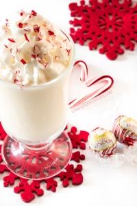 Boozy White Chocolate Peppermint Milkshakes